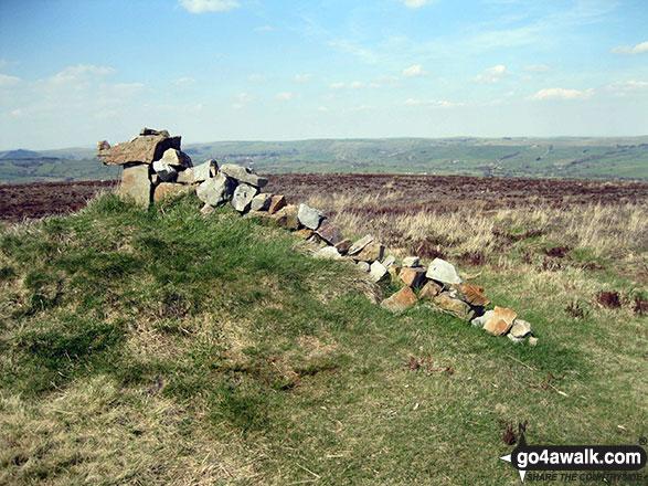 Stone dragon sculpture on the summit of Revidge