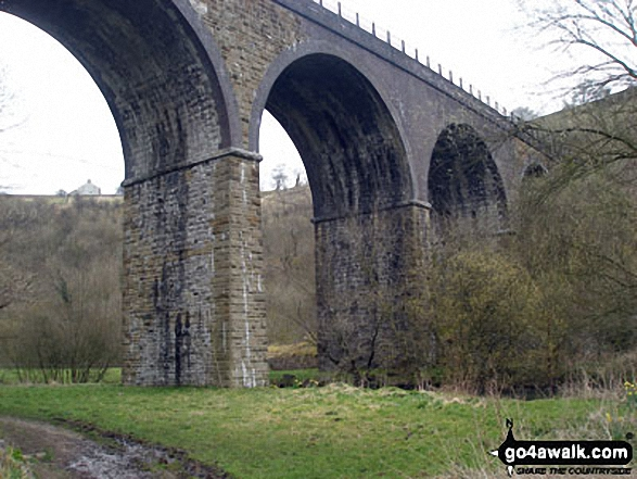 Monsal Head viaduct. Walk route map d270 Monsal Head, Monsal Dale and Deep Dale from Ashford in the Water photo