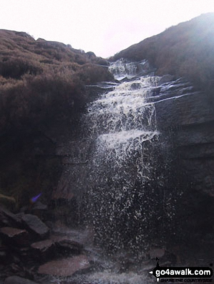 Waterfall on Middle Black Clough