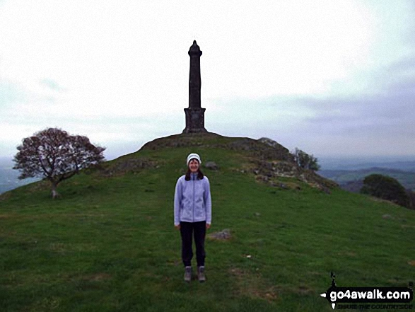 Ann by Rodney's Pillar (Breidden Hill)