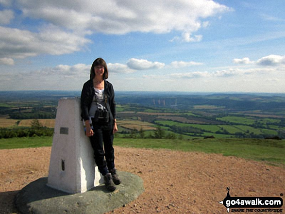 Ann on top of The Wrekin