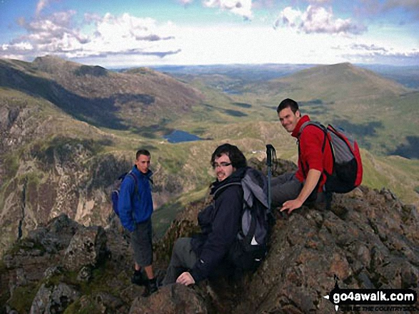 James, James Lawton and Pete on Snowdon