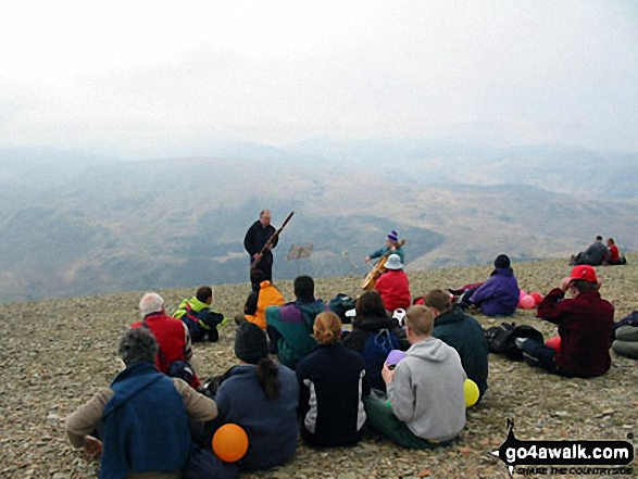 Musicians on the summit of Helvellyn