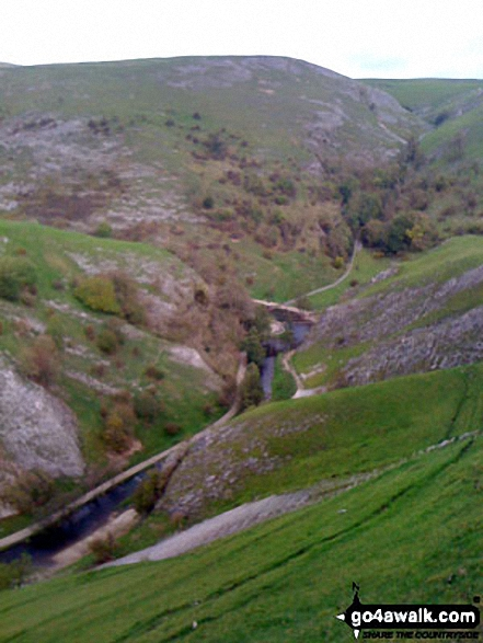 The River Dove and Dove Dale from Thorpe Cloud. Walk route map s180 Dove Dale and Ilam Tops from Milldale photo