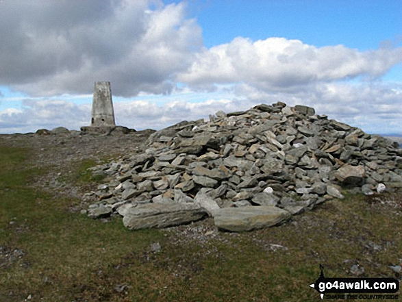 Ben Ledi summit cairn and trig point
