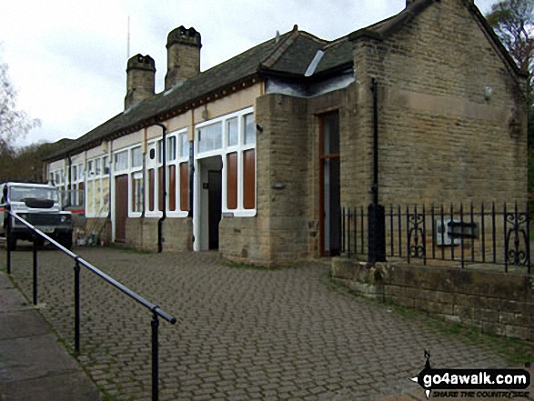 Miller's Dale Station Buildings. Walk route map d138 Monks Dale, Miller's Dale and Tideswell Dale from Tideswell photo