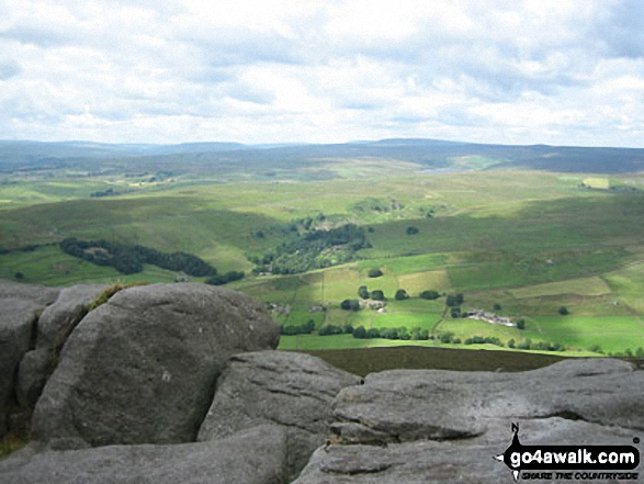 Looking North from Simon's Seat (Wharfedale)