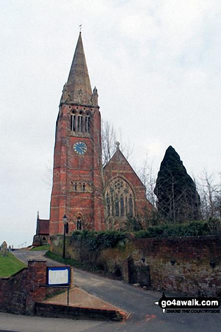 Walk ha109 Lyndhurst Hill and Swan Green from Lyndhurst - Lyndhurst Church
