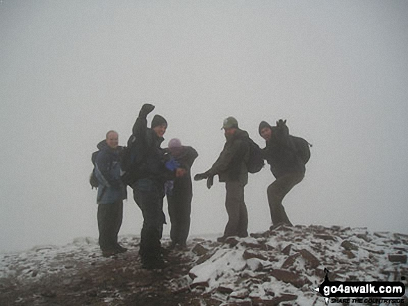 Me and my hiker buddies on Cribyn on the way to Pen y Fan