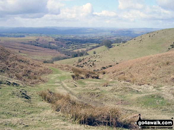 Walk Brown Clee Hill (Clee Burf) walking UK Mountains in The Shropshire Hills  Shropshire    England