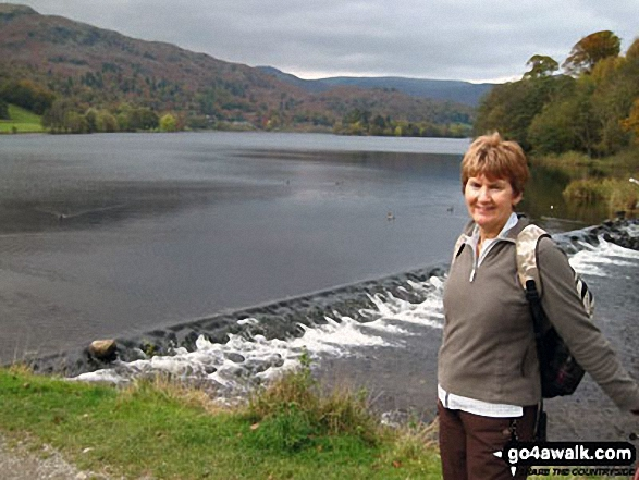 Lorna Auty on the shore of Grasmere