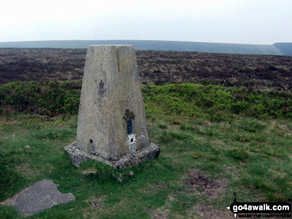 Black Mixen summit trig point, Radnor Forest