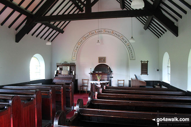 Inside Little Longstone Church
