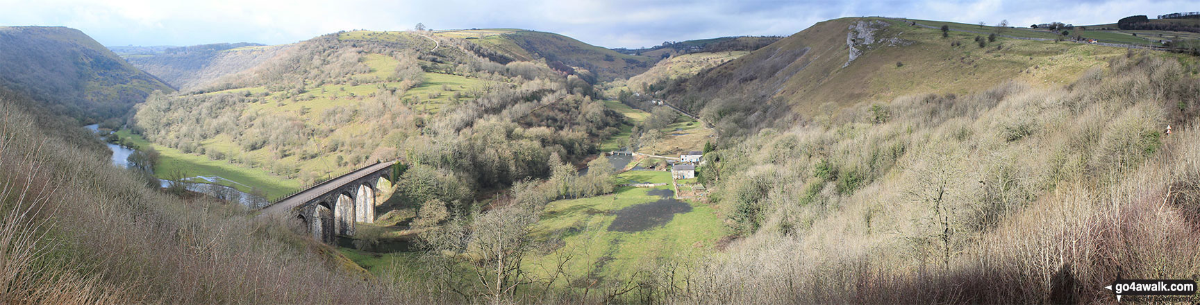 Monsal Head Viaduct and Monsal Dale from Monsal Head