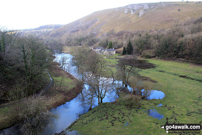 The River Wye in Monsal Dale from Monsal Head Viaduct