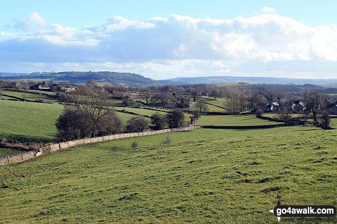 Walk d215 Longstone Edge, High Rake, Calver and Stoney Middleton from Eyam - The beautiful Derbyshire countryside from the bottom of Longstone Edge