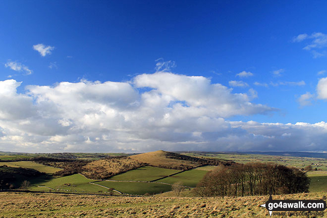 The view west from Longstone Moor with Wardlow Hay Cop prominent