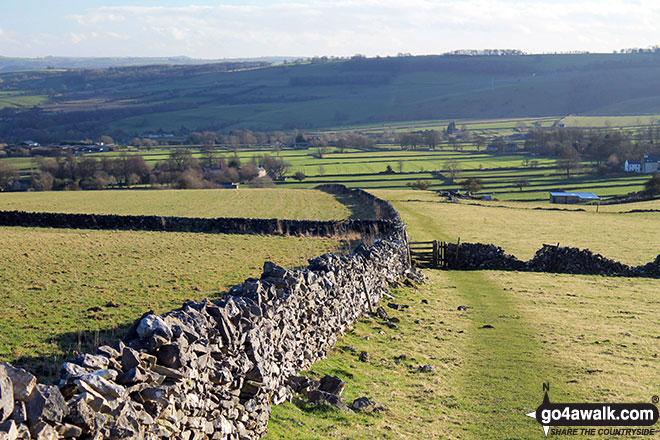 The path back to Little Longstone from Longstone Moor