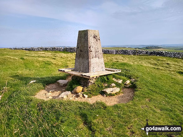Bradwell Moor summit trig point