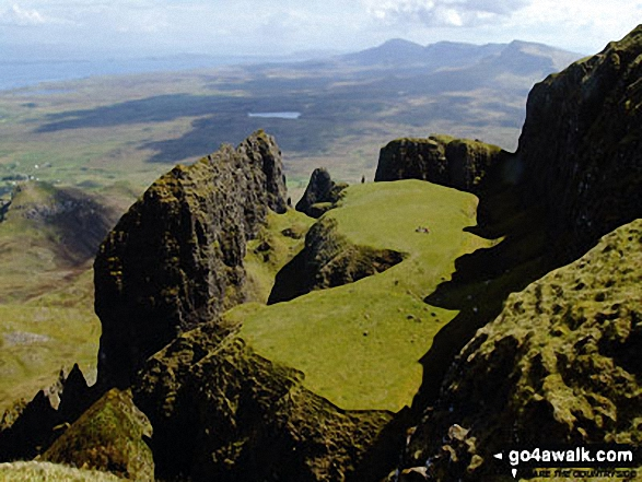 A spectacular visita from The Quiraing on the lower slopes of Meall na Suiramach