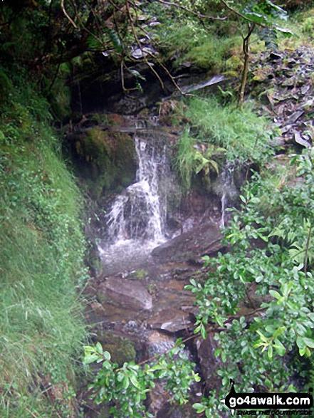 Waterfall in Bryn-Eglwys Quarry