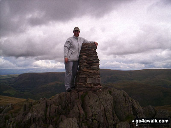 On Place Fell. Walk route map c304 Beda Head and Place Fell from Howtown photo