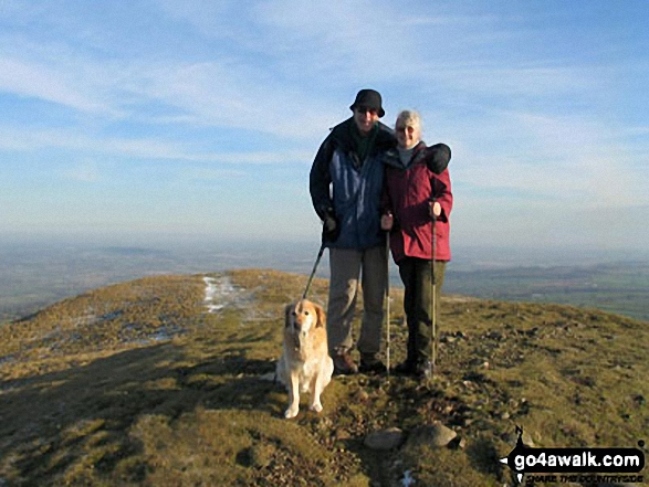 Me, my Husband and Bracken on Middletown Hill walk The Breidden Hills Powys Wales walks