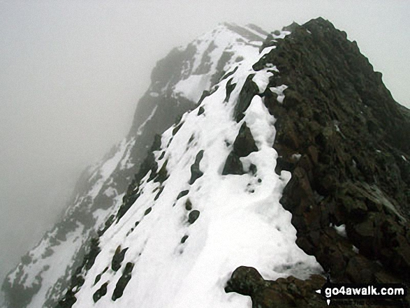 Crib Goch in the snow