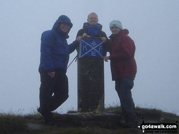 Half of The Kef - me, Mike and Kiera on Ladhar Bheinn