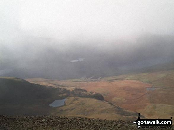 Cwm Clogwyn from Snowdon (Yr Wyddfa). Walk route map gw134 Mount Snowdon (Yr Wyddfa) avoiding Crib Goch from Pen y Pass photo
