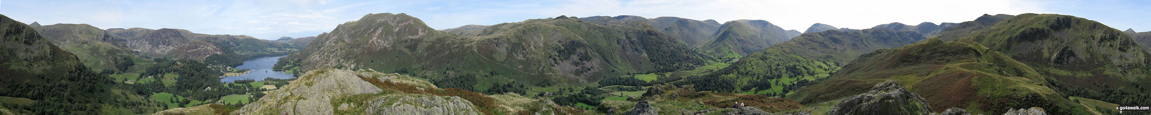 Walk c264 The Grisedale Round from Patterdale - 360 panorama taken from the top of Arnison Crag, Patterdale