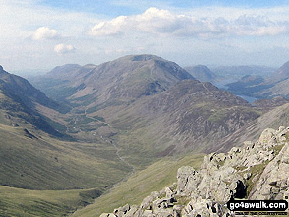Ennerdale and High Stile, High Crag & Hay Stacks from Green Gable summit