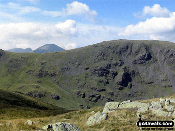 Little Scoat Fell and Pillar (distance) with Brandreth (foreground) from Base Brown
