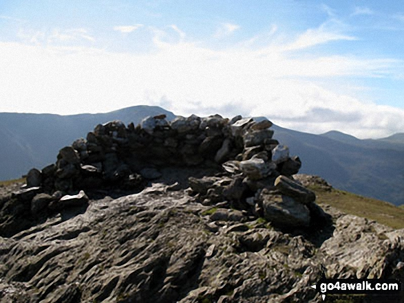 Robinson summit shelter. Walk route map c101 Pillar and Little Scoat Fell from Wasdale Head, Wast Water photo