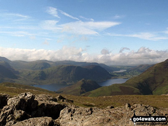 Mellbreak, Buttermere and Rannerdale Knotts from Robinson
