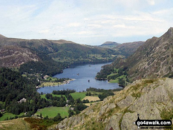 Walk c264 The Grisedale Round from Patterdale - Ullswater and Glenridding from Arnison Crag, Patterdale