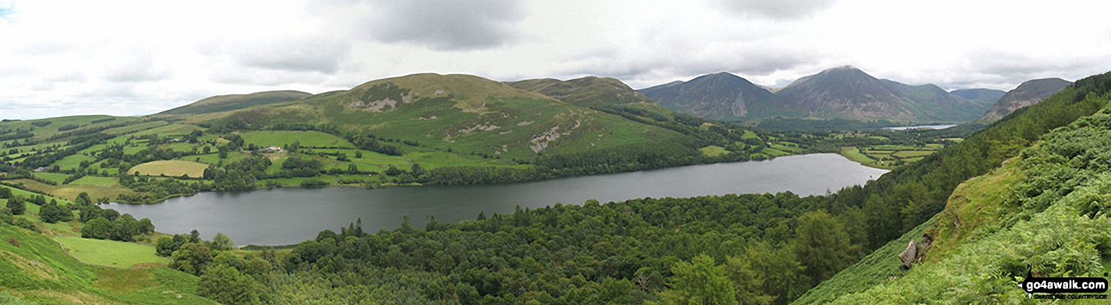 Loweswater photographed from the terrace path above Holme Wood