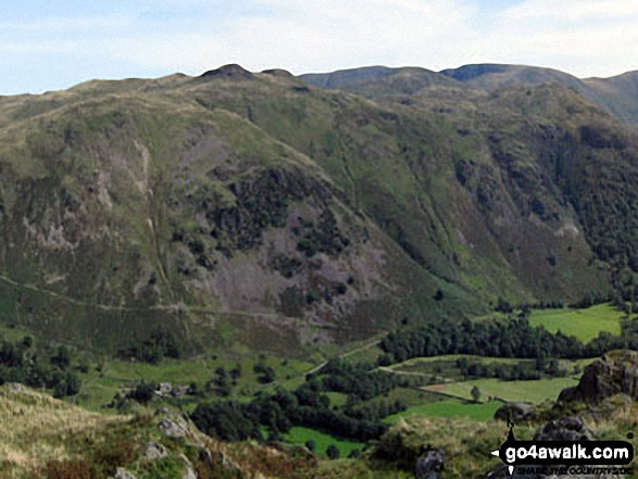 Anlgetarn Pikes and Brock Crags from Arnison Crag, Patterdale