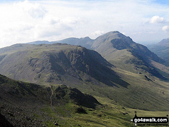 Kirk Fell, Looking Stead & Pillar from the summit of Green Gable