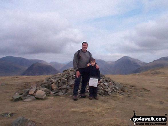 Me and my son on Illgill Head