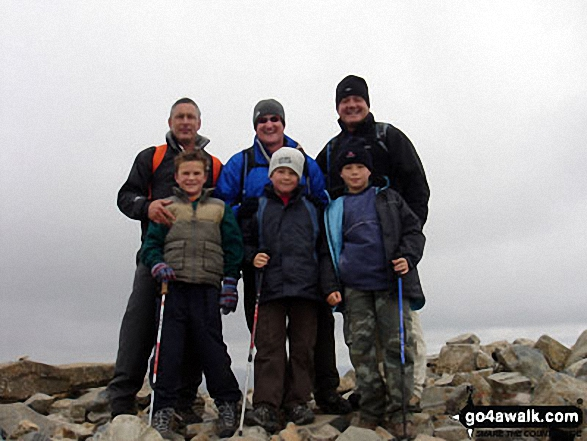 Father and Sons on top of Scafell Pike