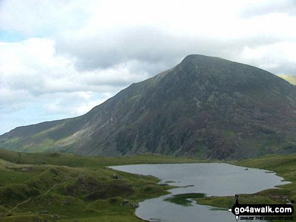 Llyn Idwal and Pen yr Ole Wen from below Glyder Fawr