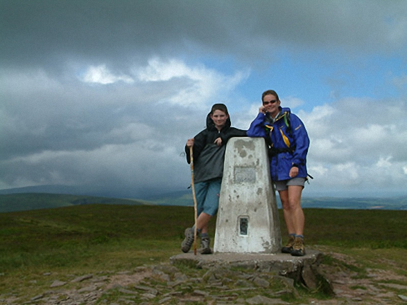 Nen and Nicola on Fan Frynach