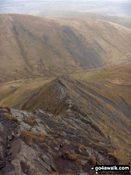 Sharp Edge from Blencathra or Saddleback (Hallsfell Top)