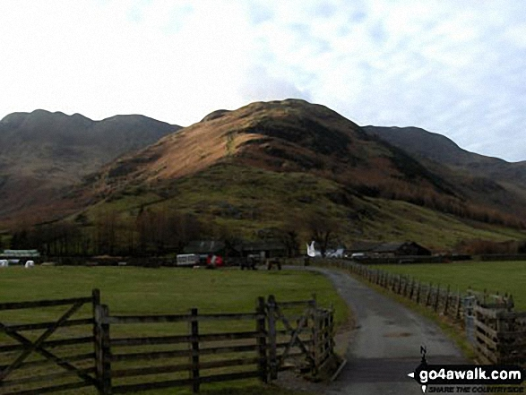 Approaching The Band and Stool End Farm from Great Langdale