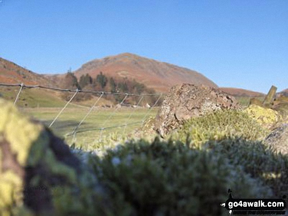 Steel Fell from Mill Bridge. Walk route map c266 Seat Sandal and Fairfield from Grasmere photo