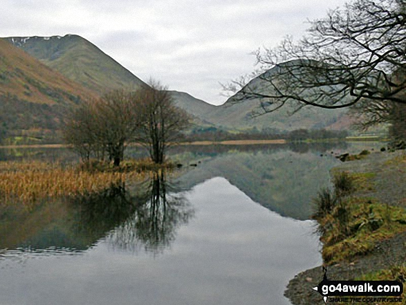 South toward The Kirkstone Pass from the shores of Brothers Water. Walk route map c128 The Hayswater Round from Hartsop photo