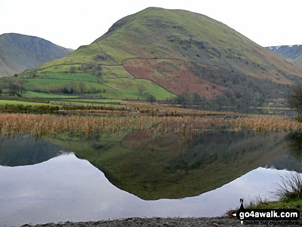Hartsopp Dodd from the shores of Brothers Water. Walk route map c128 The Hayswater Round from Hartsop photo