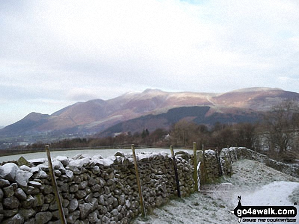 Skiddaw from near Walla Crag