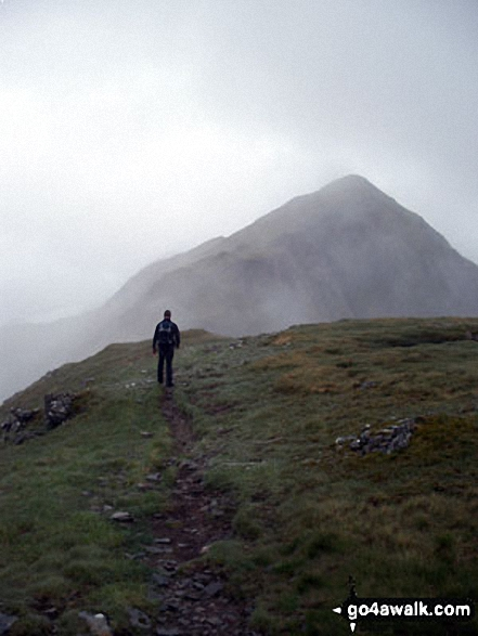Approaching Sgurr nan Saighead (Sgurr Fhuaran) - one of the Five Sisters of Kintail